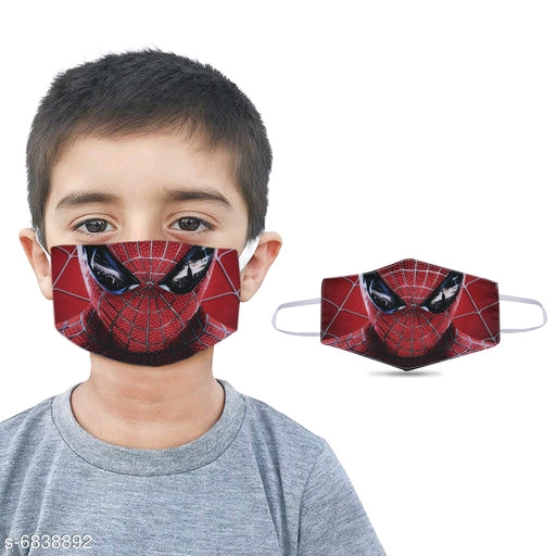 Spiderman Graphic Printed Reusable Mask